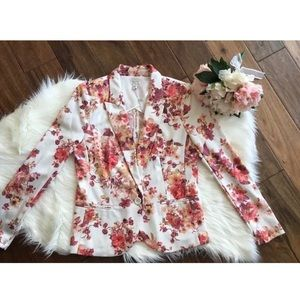 Lauren Conrad Floral Blazer /Jacket
